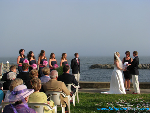 Български Текстил Cultural Exchange: American Cape Cod Style Wedding