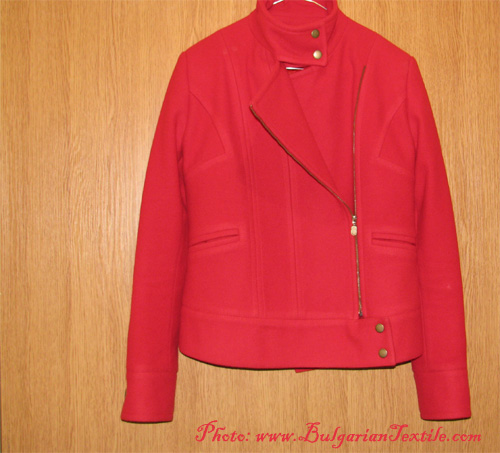 Add some holiday spirit wearing a red coat