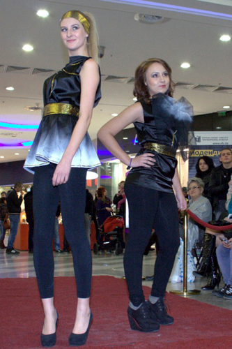 Fashion show of Students from Free University of Varna  at the Varna Mall
