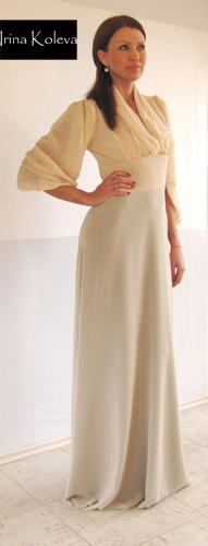 Romantic Collection sheer dress by Irina Koleva - BulgarianTextile.com